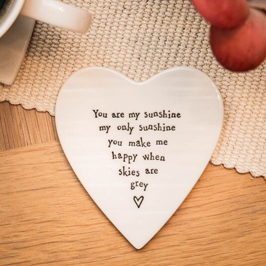 You Are My Sunshine Porcelain Coaster