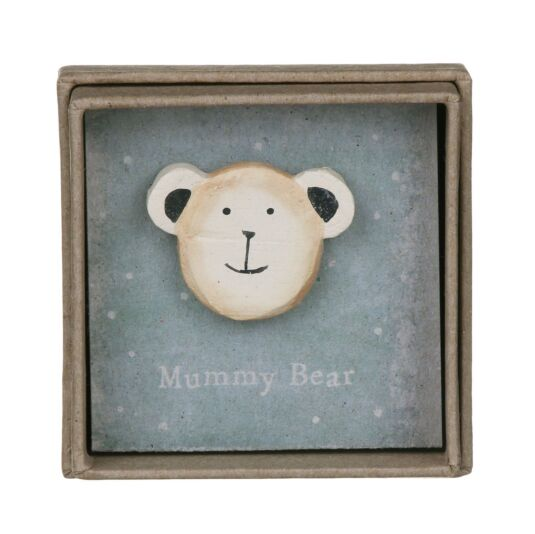 Mummy Bear Lapel Pin