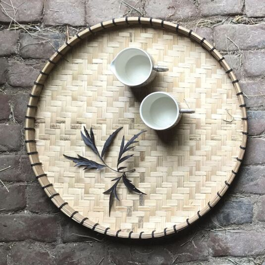 Large Natural Woven Tray