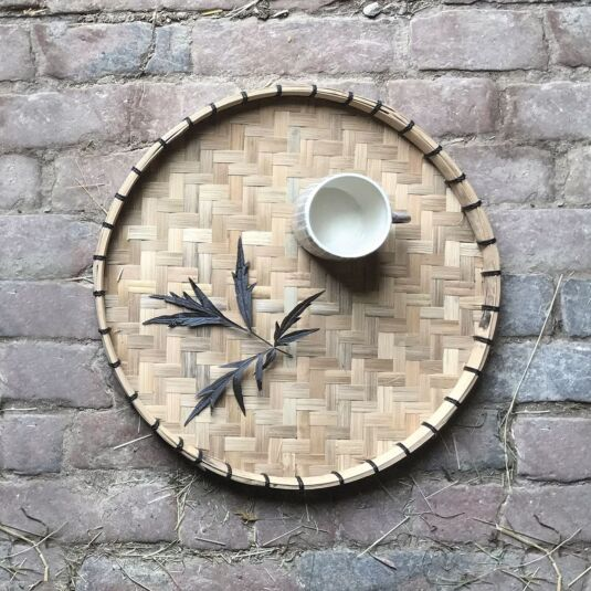 Small Natural Woven Tray
