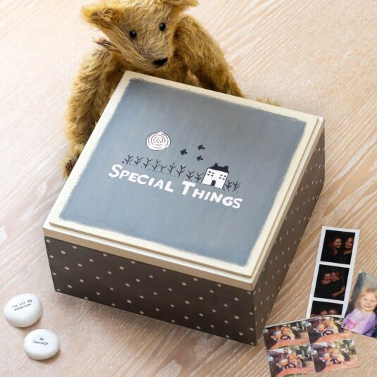 Grey 'Special Things' Keepsake Box