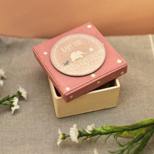 Baby Girl Dotty Pink Box