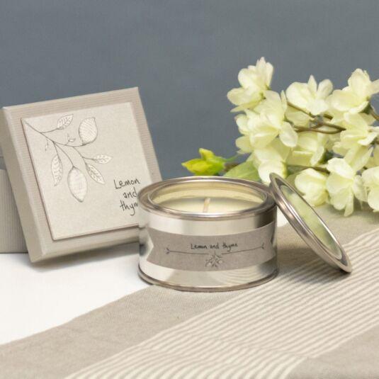 Lemon & Thyme Boxed Candle