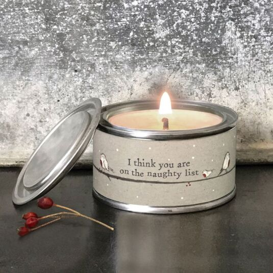 'Naughty List' Christmas Candle