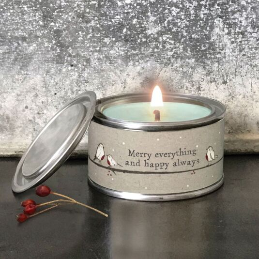 'Happy Always' Christmas Candle