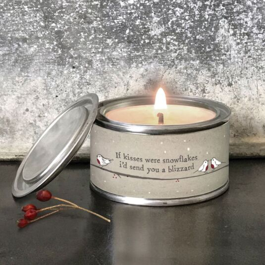 'Snowflake Kisses' Christmas Candle