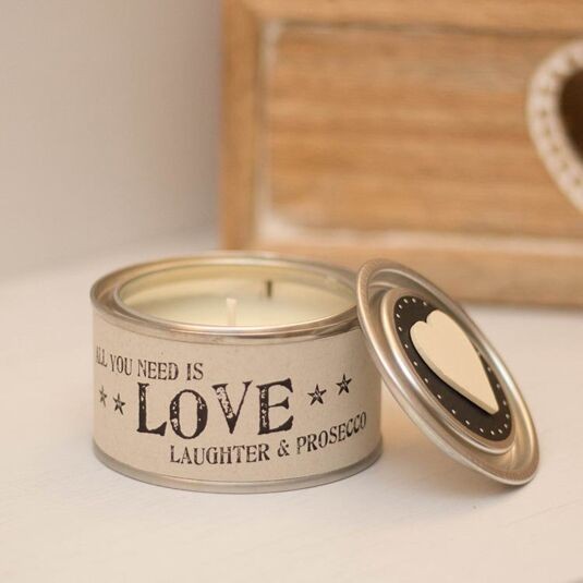 All You Need is Love  Scented Tin Candle