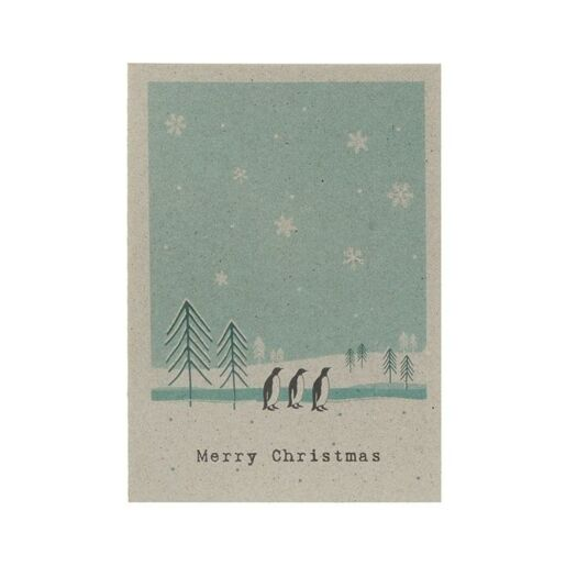 Winterland Card – Penguin Gang