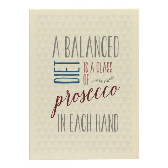 'A Balanced Diet' Card