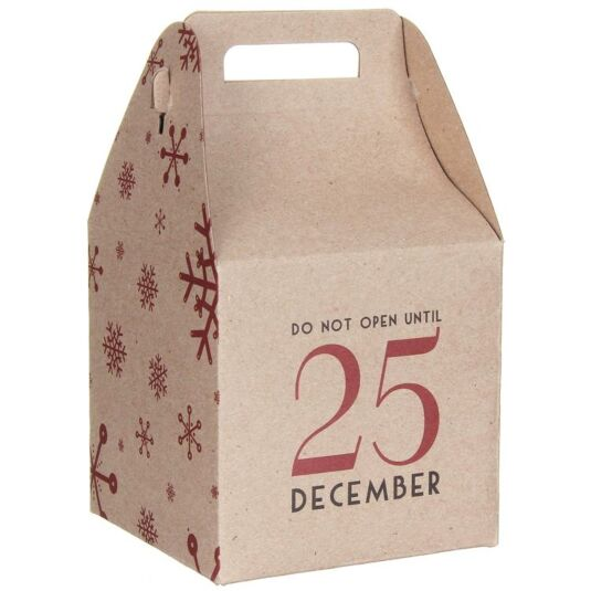 Do Not Open Until 25 December Square Giftbox