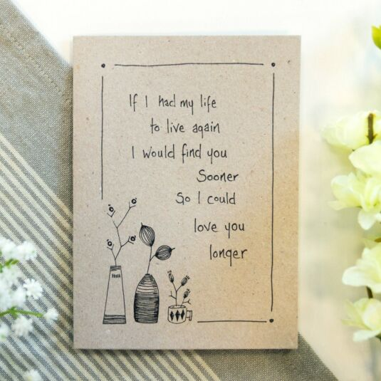 'Love You Longer' Ink Card