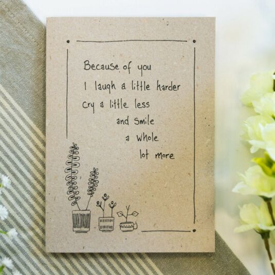'Because of You' Ink Card
