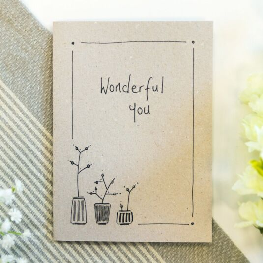 'Wonderful You' Ink Card