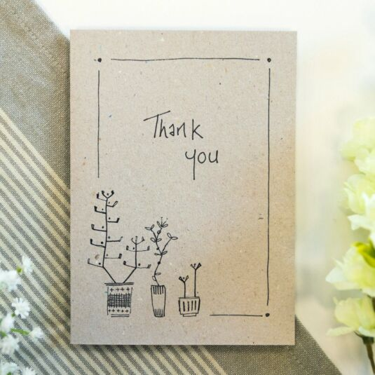 'Thank You' Ink Card
