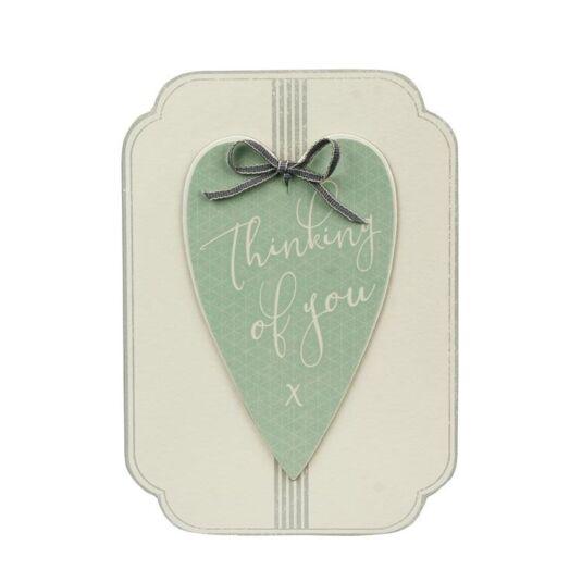 Thinking Of You Italic Heart Card
