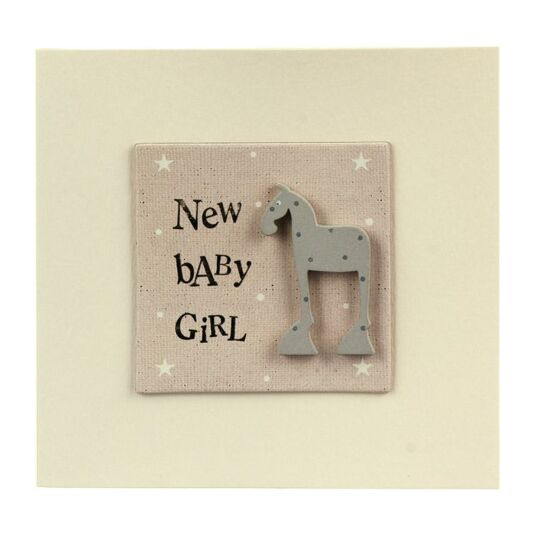 New Baby Girl Animal Card