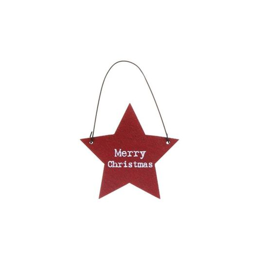 'Merry Christmas' Little Star Sign (Pack of 10)