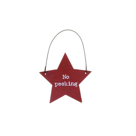 'No Peeking' Little Star Sign (Pack of 10)