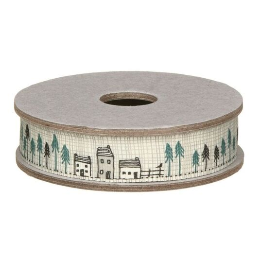 Houses in Fir Trees Ribbon 3m