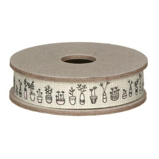 Flowers in Pots Ribbon 3m