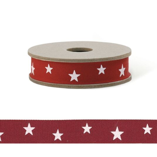 'Red Stars' 3m Geometric Ribbon