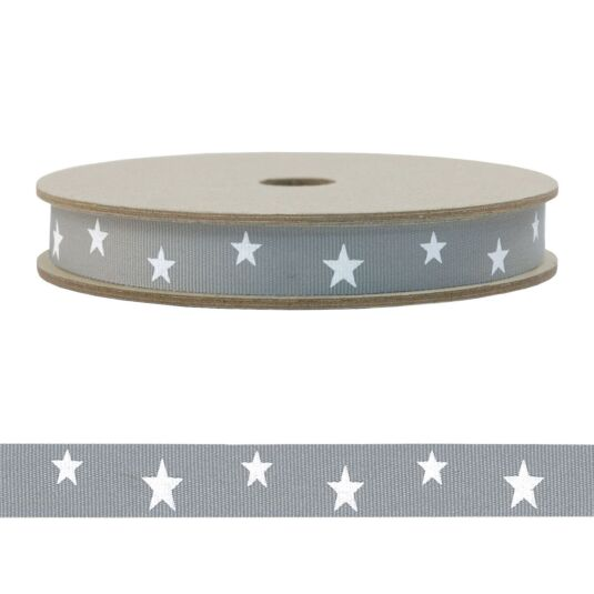 'Grey Stars' 20m Geometric Ribbon