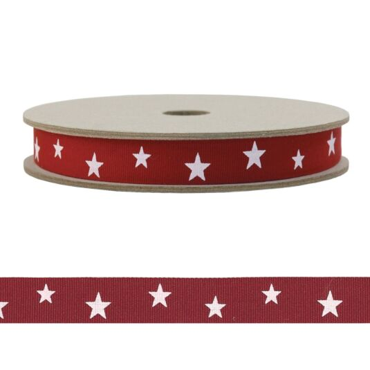 'Red Stars' 20m Geometric Ribbon