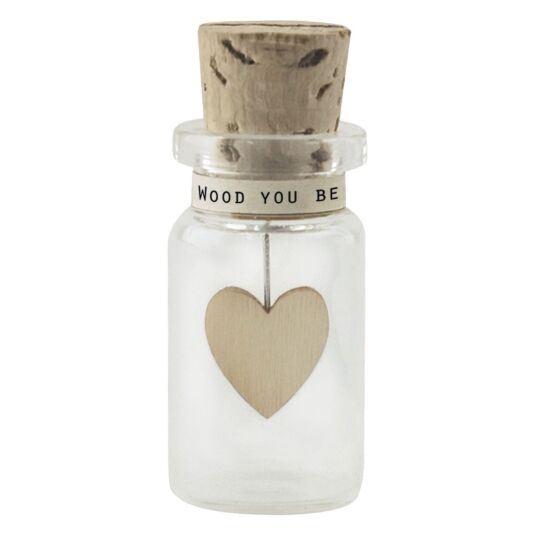 'Be Mine' Miniature Glass Bottle