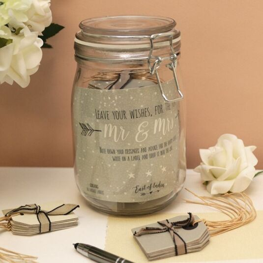 East Of India Wedding Wishes Jar Temptation Gifts