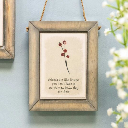 'Friends Are Like Flowers' Hanging Berry Picture