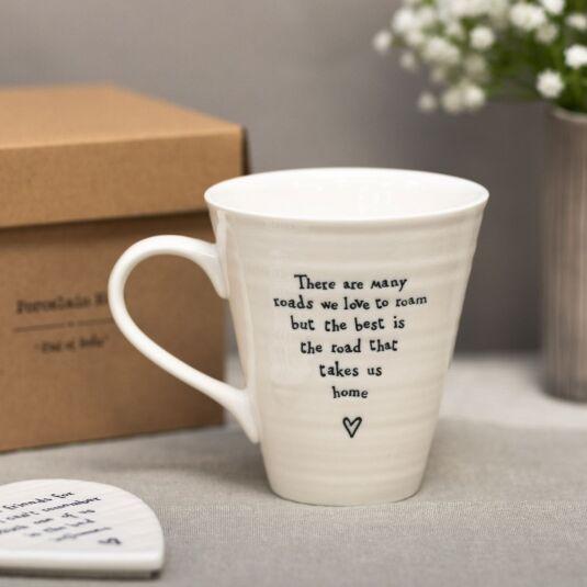 'Road That Takes Us Home' Porcelain Boxed Mug
