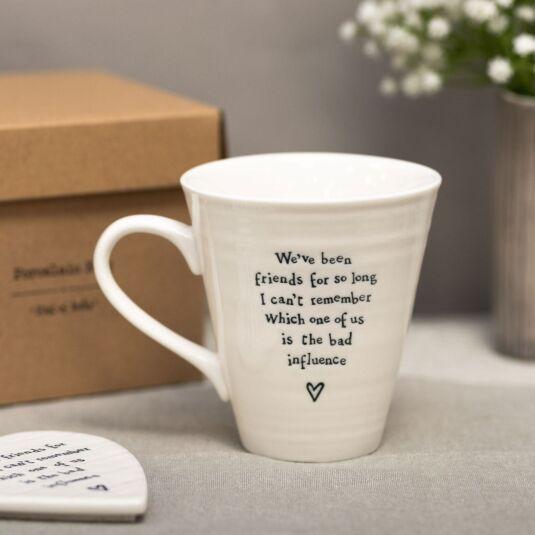 'Bad Influence' Porcelain Boxed Mug