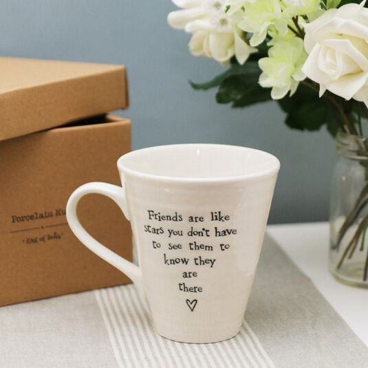 Friends Are Like Stars Porcelain Mug