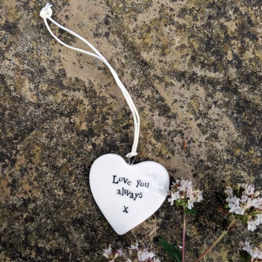 'Love You Always' Porcelain Heart