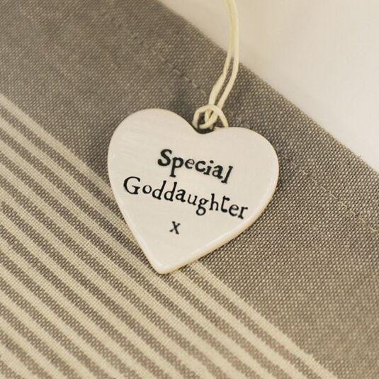 Special Goddaughter Porcelain Heart