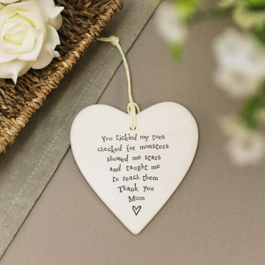 East Of India Thank You Mum Porcelain Heart Temptation Gifts
