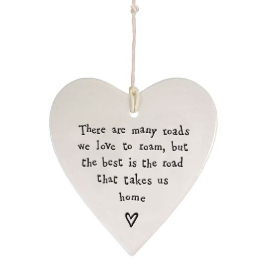 'Road That Takes Us Home' Wobbly Hanging Heart