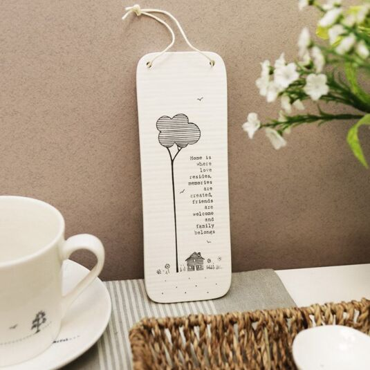 'Home' Tall Porcelain Sign
