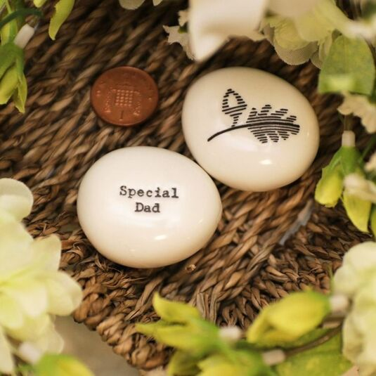 Special Dad Porcelain Pebble
