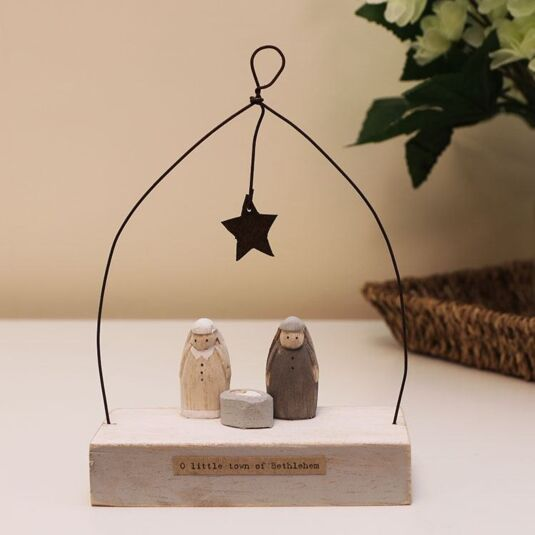 'O Little Town' Nativity Wooden Scene