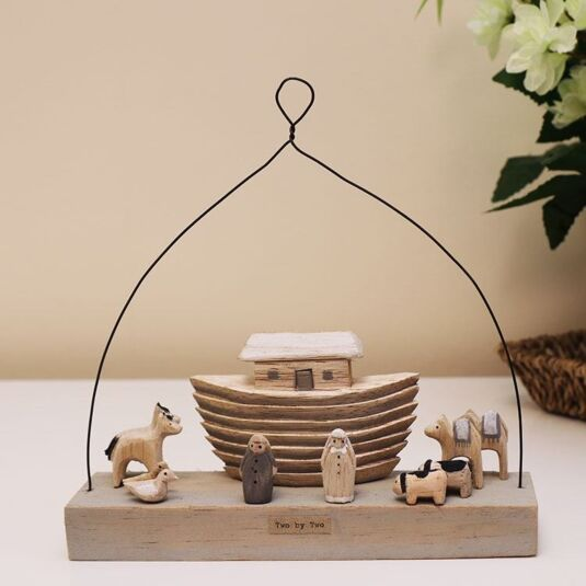 'Two By Two' Noah's Ark Wooden Scene