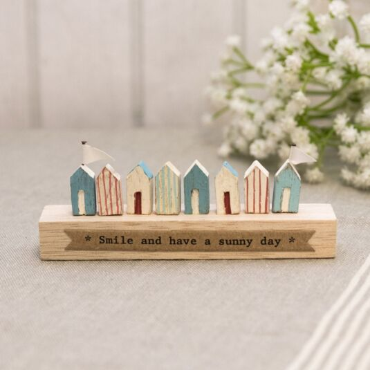 'Smile and have a sunny day' Wooden Ornament