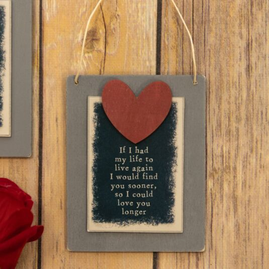 'Love You Longer' Small Wooden Sign