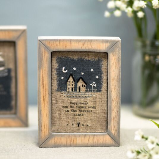 'Darkest Times' Embroidered Box Frame