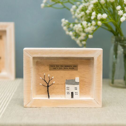 'Live For The Moments' Box Frame