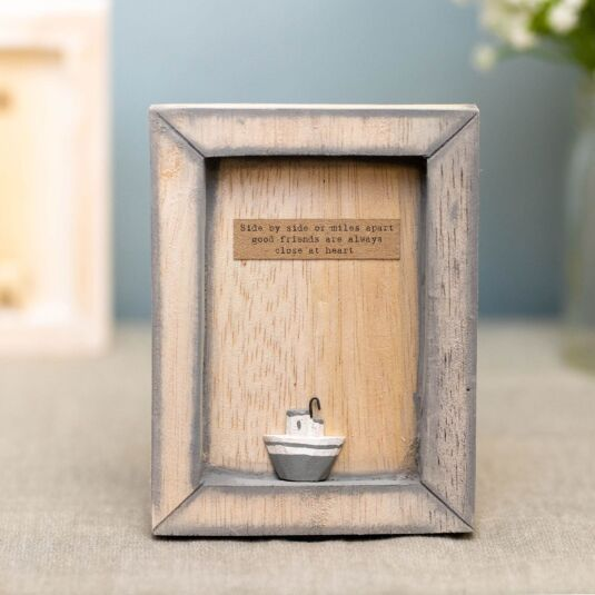 'Side by Side Good Friends' Box Frame