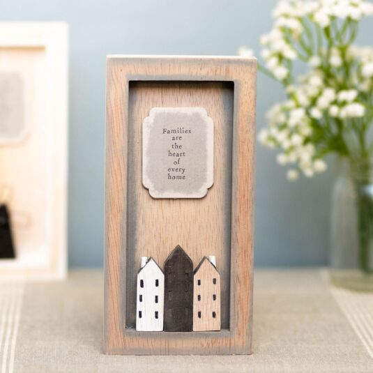 'Families are the Heart' Tall Standing Box Frame