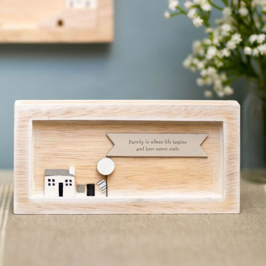 'Family is Where' Landscape Standing Box Frame