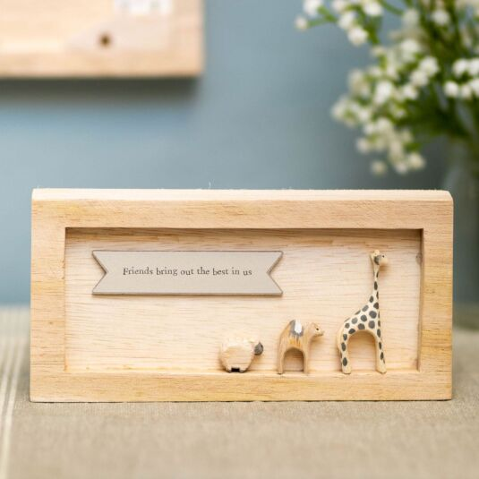 'Friends Bring Out The Best in Us' Landscape Standing Box Frame