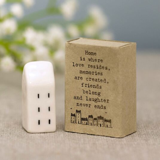 'Home is Where Love Resides' Matchbox House